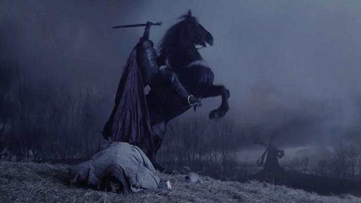 Darth Maul rides again! (Ray Park played the Headless Horseman when headless in Tim Burton's film Sleepy Hollow)