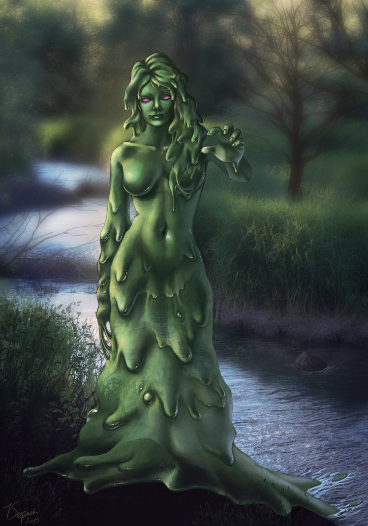 Woman Covered In Slime